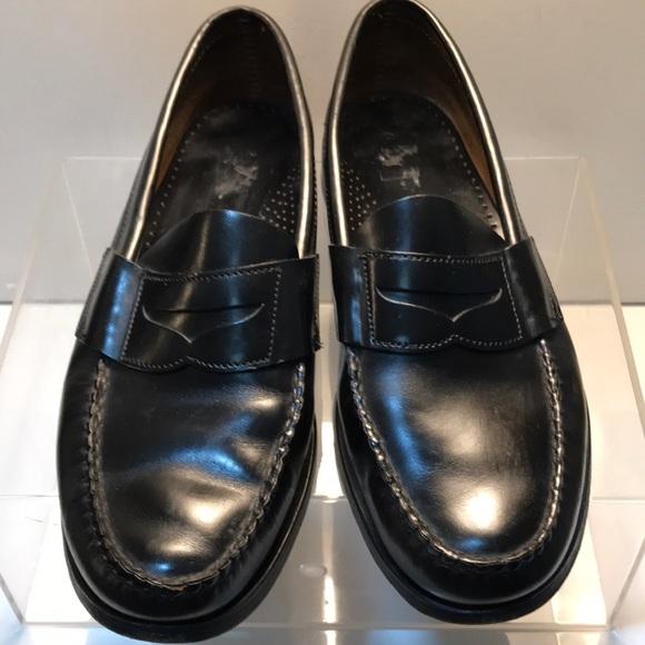 sebago black loafers